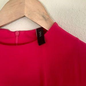 {YAS} 3/4 tie sleeve top